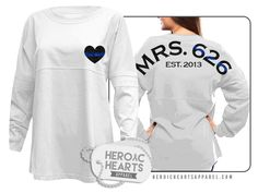 Heroic Hearts Apparel - Mrs. LEO Spirit Jersey, $8.00 (http://www.heroicheartsapparel.com/mrs-leo-spirit-jersey/) cop police wife leow girlfriend deputy leo law enforcement