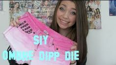 SIY: OMBRE Dip Dye Studded Shorts!, via YouTube. PINK