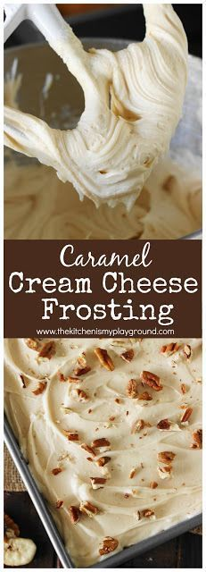 8 oz. cream cheese, at room temperature1/2 c. unsalted butter, softened1/2 c. caramel ice cream topping1 tsp. vanilla extract1/8 tsp. salt or fine sea salt6 c. confectioners' sugar
