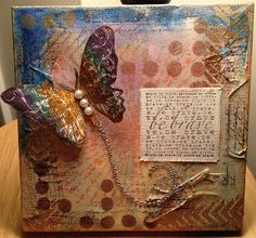 Eclectic Paperie - canvas mixed media