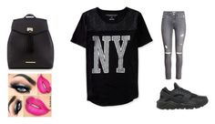 """Going to school."" by diamondj205 on Polyvore featuring Aéropostale, H&M, NIKE and Red Herring"