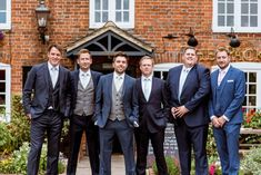 Laid Back Summer Garden Party Wedding in Stretch Tents Wedding Groom, Wedding Attire, Back Garden Wedding, Groom And Groomsmen Attire, Groom Style, Summer Garden, Tents, Navy Suits, Outfit