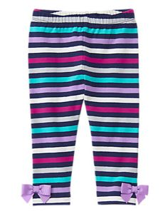 Back to Blooms- Striped Leggings (16.95/8) 3T