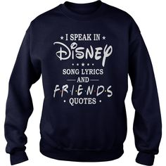 I Speak In Disney Song Lyrics And Friends Quotes Shirt I Speak In Disney Song Lyrics And Friends Quotes Shirt is a awesome shirt about topic I Speak In Disney Song Lyrics And Friends Quotes that our team designed for you. LIMITED EDITION with many style as longsleeve tee, v-neck, tank-top, hoodie, youth tee. This shirt has different color and size, click button bellow to grab it. >>Buy it now: https://kuteeboutique.com/shop/i-speak-in-disney-song-lyrics-and-friends-quo