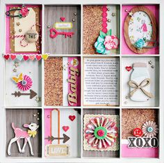 I could decorate my shadow box like this one...
