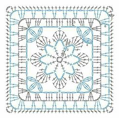 Transcendent Crochet a Solid Granny Square Ideas. Wonderful Crochet a Solid Granny Square Ideas That You Would Love. Crochet Motifs, Granny Square Crochet Pattern, Crochet Blocks, Crochet Diagram, Crochet Chart, Crochet Squares, Crochet Stitches, Crochet Patterns, Knitting Patterns