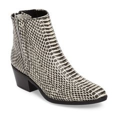 Women's Calvin Klein Phaedra Chelsea Boot ($169) ❤ liked on Polyvore featuring shoes, boots, ankle booties, snake print leather, calvin klein boots, chelsea bootie, stacked heel booties, calvin klein booties and beatle boots