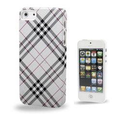 Iphone 5 Cover Silber Kariert (harte Rückseite) von CNP