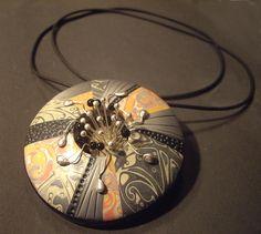 by Natalia García de Leániz  (Tatana of Madrid); looks like metal, but it's polymer clay.