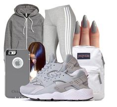 """""""Untitled #1519"""" by honey-cocaine1972 ❤ liked on Polyvore featuring H&M, JanSport and adidas"""