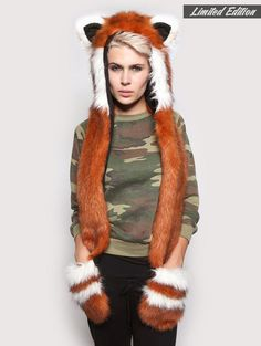 Red Panda SpiritHood - SpiritHoods - I WANT THIS, AS LONG AS IT'S NOT REAL FUR!!!!