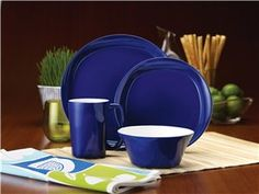 Blue Raspberry 16-pc. Round & Square Dinnerware Set by Rachael Ray at Cooking.com