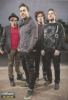 Fall out Boy is adventurest and hot!Why is Patrick so short?I guess its  because if he was 6 feet he wouldn't be as adorb.