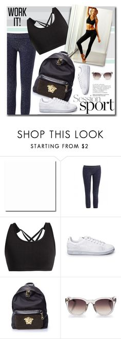 """""""Sport Session"""" by firstboutique ❤ liked on Polyvore featuring Phat Buddha, Versace, Linda Farrow and sportswear"""