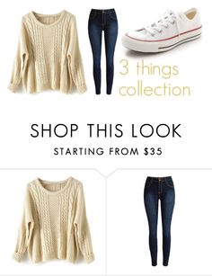 """3 things collection"" by littledesigns ❤ liked on Polyvore featuring Converse, women's clothing, women, female, woman, misses and juniors"