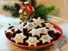 Brabantské dortíčky s marcipánem November 2019, Gingerbread Cookies, Waffles, Sugar, Baking, Breakfast, Christmas, Food, Top Recipes