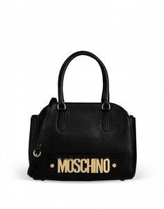 Handbag nera Moschino