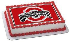 Ohio State Buckeyes Edible Birthday Cake Topper OR Cupcake Topper, Decor