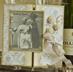 Vintage Wedding Card or inspiration for a special anniversary card.