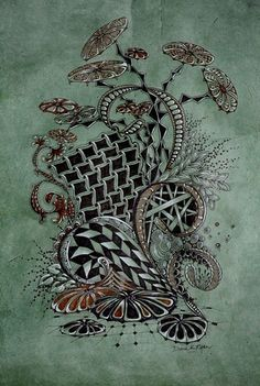 zentangle - This is something I have gotten interested in of late and will follow a bit more.