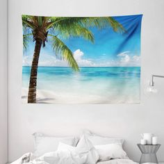 Discover the best beach themed tapestries and coastal wall tapestries. We love beach wall decor and tapestries are affordable and beautiful, which makes them a great option. Tapestry Bedroom, Tapestry Wall Hanging, Hanging Flower Wall, Hanging Art, Ocean Themes, Beach Themes, Ocean Artwork, Black Ink Art, Beach Wall Decor