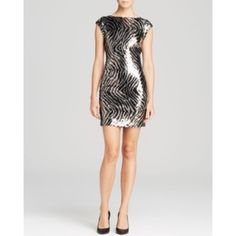 guess // bodycon sequin party dress BRAND NEW never before worn fully sequined minidress. Hidden zipper, v-shaped back. Fits TTS- in perfect condition. This is the PERFECT party dress for NYE, a bachelorette party, or just a fun night out on the town! All eyes will be on you in this form-fitting, sparkly showstopper! Guess Dresses