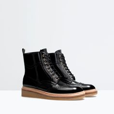 Image 4 of PERFORATED BOOTIES from Zara