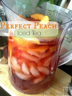 23. #Perfect Peach Iced Tea - Yes Please! #These Are the 26 Most Refreshing #Pitcher Drinks for #Summer ... → Food #Peach