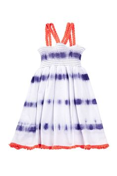 Lucky Brand - Tie Dye Stripe Smocked Dress (Big Girls) at Nordstrom Rack. Free Shipping on orders over $100.