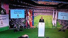 Florentio Pérez leyendo el discurso