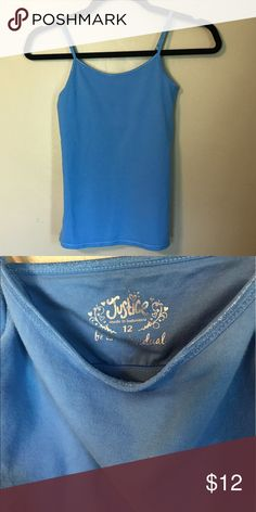 Girls Justice Blue Cami Tank Top Size 12 Great condition. Smoke free, pet friendly home. Justice Shirts & Tops Tank Tops