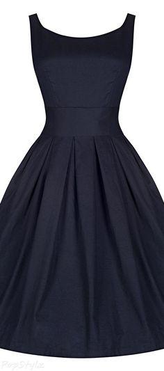 "'Lana' Vintage Inspired Swing Dress Best ""A"" Black Dress! Vestidos Vintage, Vintage Dresses, Vintage Outfits, Vintage Fashion, 1950s Dresses, Swing Dress, Dress Skirt, Dress Up, Sheath Dress"