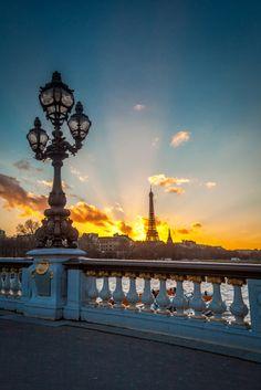 Shining Eiffel Tower, Paris, France