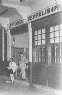 O Bar Zeppelin ficava na Rua Visconde de Pirajá nº 499, em Ipanema ,onde funcionou de 1937 a 1968. Tinha mesas de madeira, forradas com toalhas brancas, cadeiras de palhinha e paredes chapiscadas de verde. Conta-nos Rui Castro que o dono, o austríaco Oskar Geidel, simpatizante do nazismo, escolheu o nome do bar em homenagem ao Graf Zeppelin. Foi depredado por uma turma comandada por João Saldanha, quando o Brasil declarou guerra à Alemanha, em 1942. Oskar reconstruiu o bar e manteve o nome.