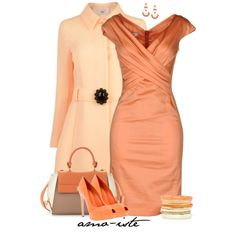 """Moschino Dress & Coat"" by amo-iste on Polyvore"