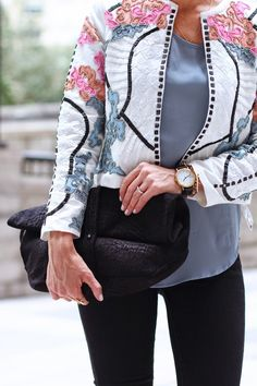 Floral beaded jacket.