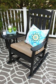 """"""""""" Polywood Furniture for Outdoor Living """""""" painting a rocking chair for outdoor use Polywood Outdoor Furniture, Outdoor Living Furniture, Outdoor Furniture Chairs, Rustic Furniture, Home Furniture, Furniture Design, Painting Furniture, Antique Furniture, Painted Rocking Chairs"""