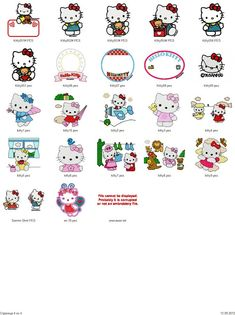 Hello Kitty embroidery designs - Free Machine Embroidery Designs Download