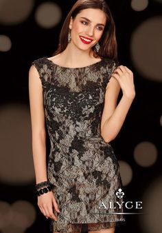 2014 Alyce Cocktail and Homecoming Collection Lace Dress 4407