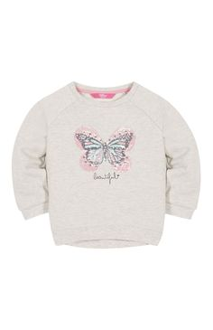 Primark - Oatmeal Butterfly Crew Neck Jumper