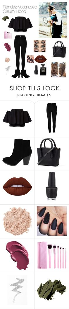"""""""Rendez-vous avec Calum Hood"""" by anneso88 ❤ liked on Polyvore featuring River Island, Lime Crime, OPI, La Mer, NYX and Bobbi Brown Cosmetics"""