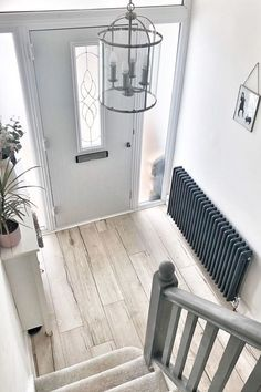 Your hallway is far more than just a walkway, but a space to welcome you home and instantly make you feel relaxed, warm, and comfortable. So,make it a space you love like @no40_house2home with BestHeating's beautiful collection of grey and anthracite designer radiators. From classic column designs to modern minimal styles,plus a selection of neutral tones from soft light grey to rich anthracite, they've got the perfect radiator to suit your hallway colour scheme and create an entrance you… Hallway Colour Schemes, Hallway Colours, Home Radiators, Column Radiators, Modern Radiators, Grey Hallway, Modern Hallway, Hall Colour, Entrance Hall Decor