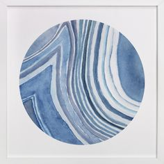Blue inspired Art Print - Mineral 01 by Lily Hanna at minted.com