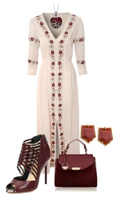 """""""Untitled #2243"""" by rkdk1101 ❤ liked on Polyvore featuring Glamorous, Versace, Lele Sadoughi and Alexandre Birman"""