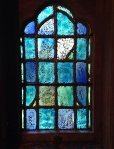 Beautiful colour palette and texture, love those fuzzy edges too. #stainedglass