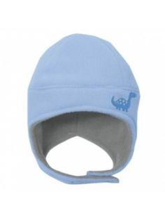 כובע חורף מפליז כחול לתינוקות-מחמם אזניים