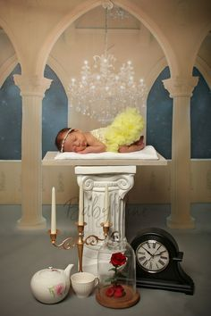 Beauty and the Beast Newborn Photography Session  Photo Prop  #beautyandthebeast #disney