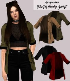 LumySims: Firefly Parka Jacket • Sims 4 Downloads Check more at http://sims4downloads.net/lumysims-firefly-parka-jacket/