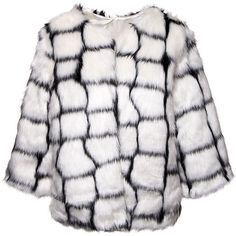 Bleeding Heart Faux Fur Jacket (Cream Mix) (280 NOK) ❤ liked on Polyvore featuring outerwear, jackets, cream jacket, cream faux fur jacket, white jacket, fake fur jacket and faux fur jacket