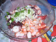 Salada de Polvo e Camarão